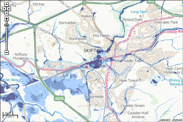 updated flood map for surface water